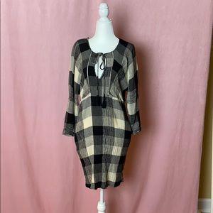 Zara Trafaluc collection plaid dress